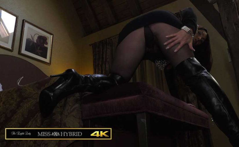 Leather Ralph Lauren Thigh Boots And Pantyhose
