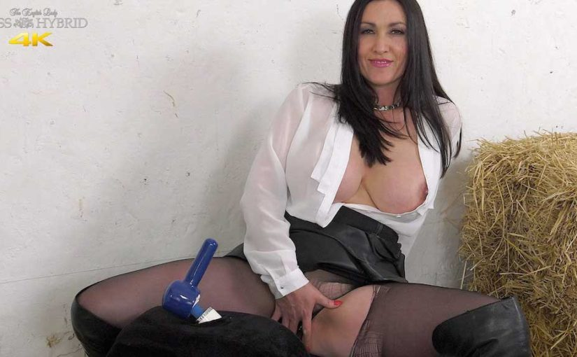 Leather Dress Magic Wand And Big Tits