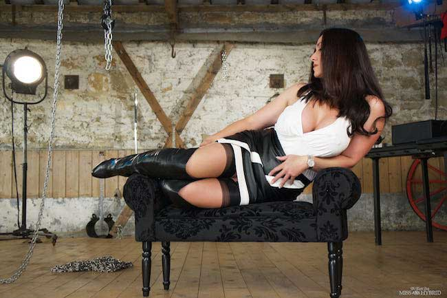 Miss Hybrid Stocking Tops And Thigh Boots