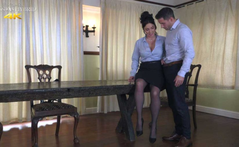 Miss Hybrid Sexy Stockings On The Castle Table